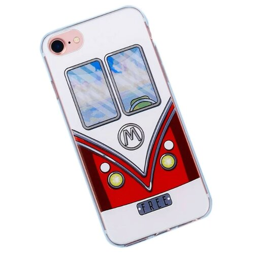 Чехол-накладка Арт Узор 3899155 для Apple iPhone 7 белый/красный чехол накладка арт узор 3903713 для apple iphone 7 iphone 8 space odyssey