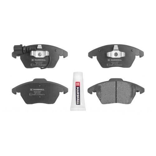 Дисковые тормозные колодки передние Marshall M2623587 для Volkswagen, Audi, Skoda, SEAT, Renault (4 шт.) дисковые тормозные колодки передние marshall m2621974 для skoda volkswagen seat audi 4 шт
