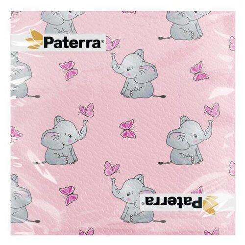 Бумажные салфетки СЛОНИКИ, 33*33 см, 20 шт. в упаковке, PATERRA тарелки бумажные paterra слоники 18 см