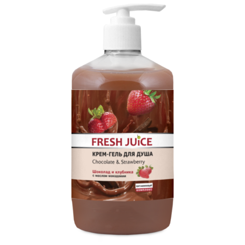 Фото - Крем-гель для душа Fresh Juice Chocolate & strawberry, 750 мл fresh juice сахарный скраб для тела chocolate and marzipan 225 мл