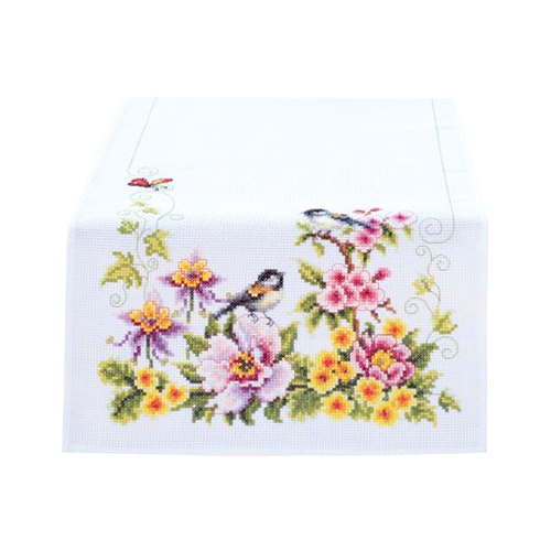 Купить Vervaco Набор для вышивания Весеннее настроение 32 x 84 см (0021680-PN), Наборы для вышивания