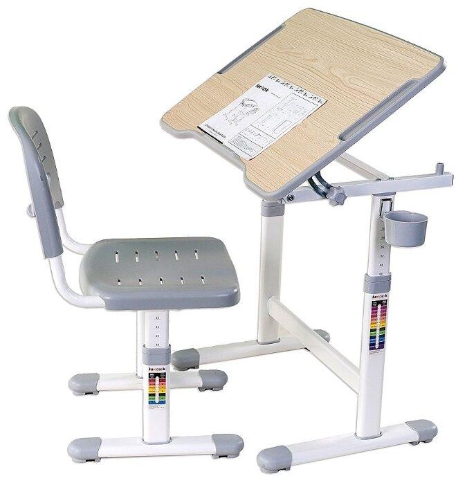 Комплект FUNDESK растущая детская парта и стул Piccolino II