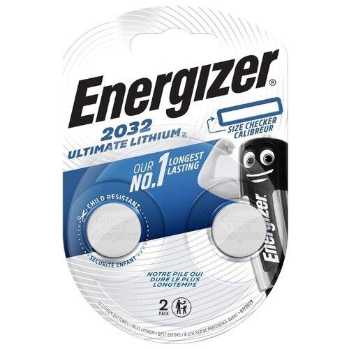 Батарейка Energizer Ultimate Lithium CR2032, 2 шт. батарейка cr2032 energizer miniature enr lithium pip1 1 штука e301021302 21194