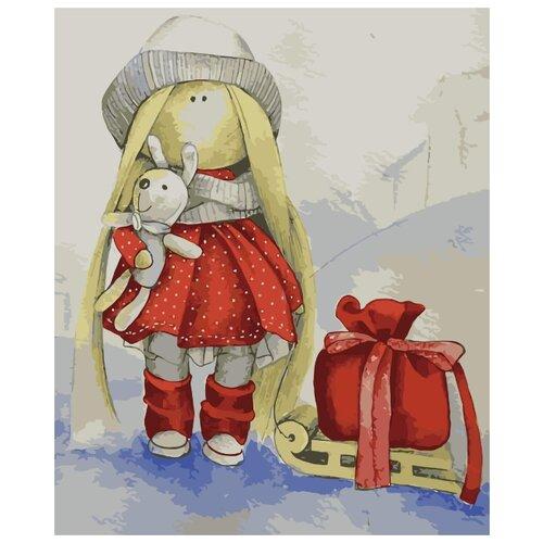 Фото - Картина по номерам Кукла Даша, 30х40 см цветной картина по номерам белый тигр 30х40 см me1072