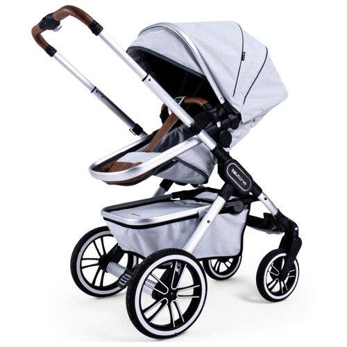 Купить Универсальная коляска Teutonia TRIO (2 в 1) melange light, цвет шасси: серебристый, Коляски
