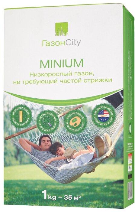 Смесь семян для газона ГазонCity MINIUM Низкорослый газон, 1 кг