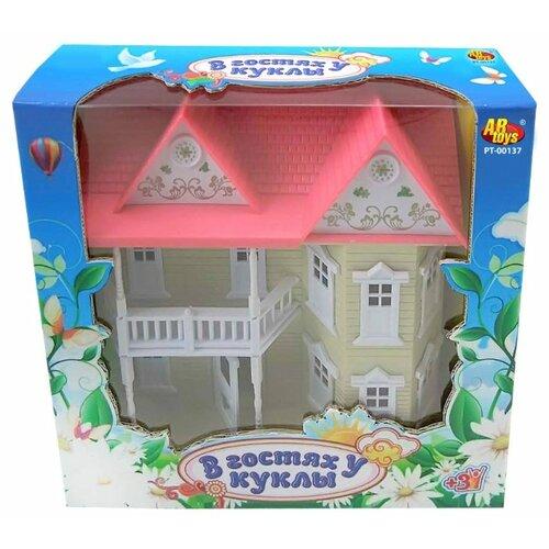 Купить ABtoys кукольный домик В гостях у куклы PT-00137, Кукольные домики