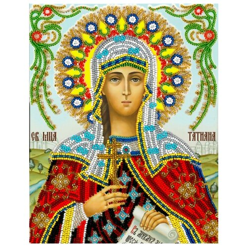 Купить Вышиваем бисером Набор для вышивания бисером Святая Татьяна 19 x 24 см (A-16), Наборы для вышивания