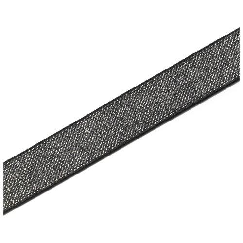 Купить Лента Prym Эластичная лента Color 25мм черный/серебристый, Декоративные элементы