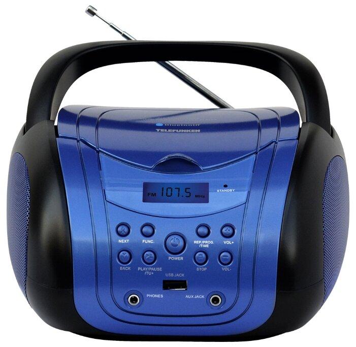 Аудиомагнитола TELEFUNKEN TF-CSRP3499B, синий и черный