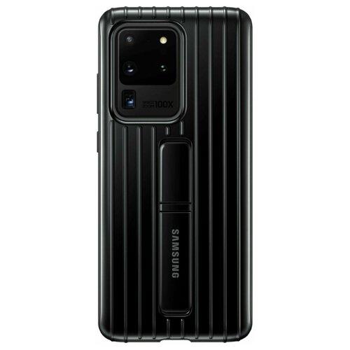 Чехол-накладка Samsung EF-RG988 для Galaxy S20 Ultra, Galaxy S20 Ultra 5G черный чехол накладка samsung ef pg988 для galaxy s20 ultra galaxy s20 ultra 5g серый