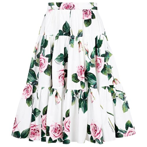 Купить Юбка DOLCE & GABBANA размер 116, белый/цветочный принт, Юбки