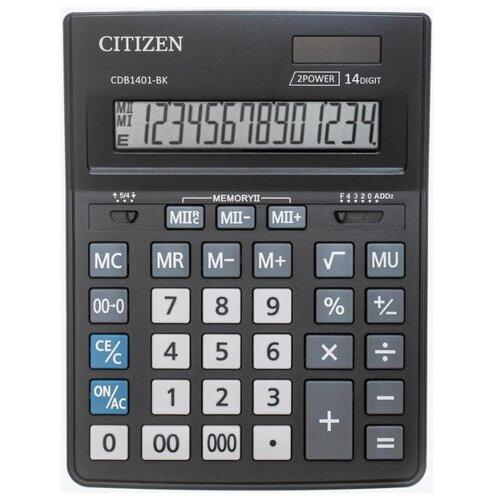 Калькулятор бухгалтерский CITIZEN CDB1401-BK черный
