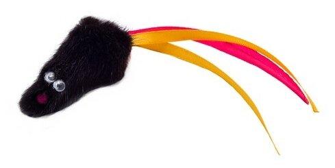 Мышь для кошек КАСКАД из натурального меха с хвостом из лент (27754606)