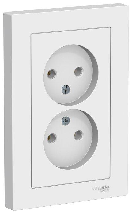 Розетка Schneider Electric AtlasDesign ATN000120,16А, белый — купить по выгодной цене на Яндекс.Маркете