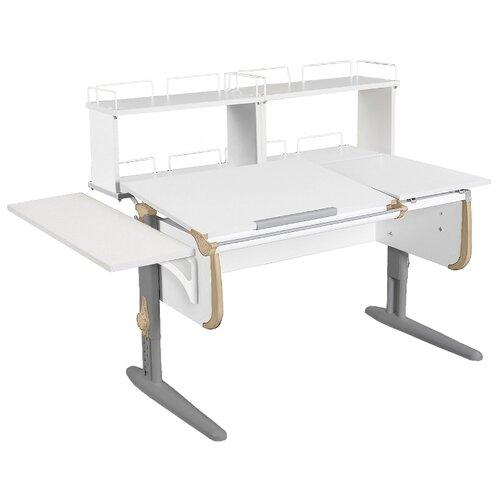 Стол ДЭМИ СУТ-25-02Д2 145x82 см белый/бежевый/серый стол дэми сут 25 02д2 145x82 см белый зеленый бежевый