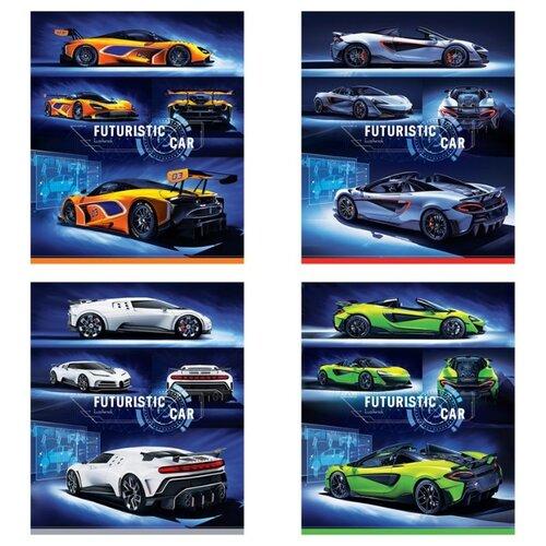 Купить ArtSpace Упаковка тетрадей Авто. Futuristic car Т96к_29857, 5 шт./4 дизайна, клетка, 96 л., Тетради