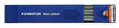 Staedtler Грифель для цангового карандаша Mars Carbon 200 12 шт. (200-H)