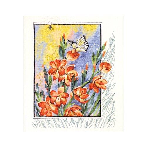 Купить Набор для вышивания Паучок, бабочка в цветах 40 х 47 см 90-4180, Permin, Наборы для вышивания