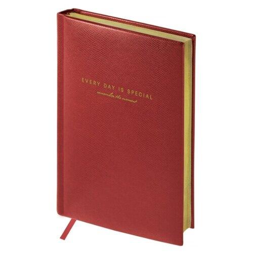 Купить Ежедневник OfficeSpace Dallas недатированный, искусственная кожа, А5, 136 листов, бордовый, Ежедневники, записные книжки