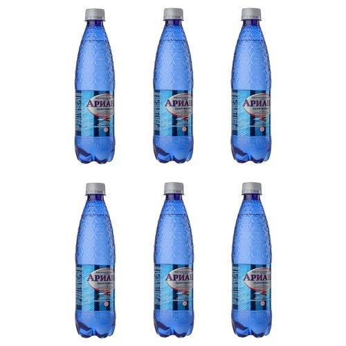 Вода минеральная Ариана газированная, ПЭТ, 6 шт. по 0.5 л