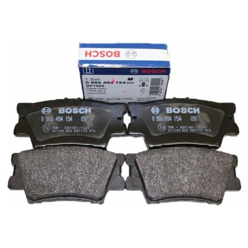 Фото - Дисковые тормозные колодки задние Bosch 0986494154 для Toyota RAV4, Toyota Camry (4 шт.) дисковые тормозные колодки передние nibk pn1521 для toyota camry 4 шт