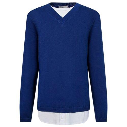 цена Пуловер Paolo Pecora размер 164, синий онлайн в 2017 году
