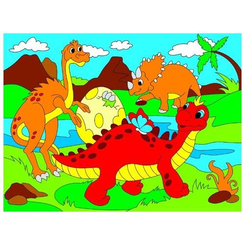 Фото - Рыжий кот Картина по номерам Милые динозавры 18х24 см (Х-9393) рыжий кот картина по номерам винни пух союзмультфильм 18х24 см х 5440