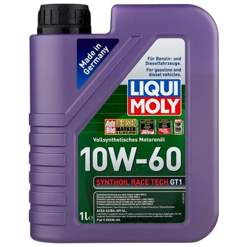 Моторное масло LIQUI MOLY Synthoil Race Tech GT1 10W-60 1 л