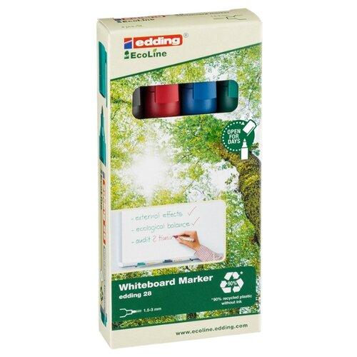 Фото - Edding Набор маркеров для белых досок Edding 28 Ecoline, 4 шт. berlingo набор маркеров для досок 4 шт bmc_40509