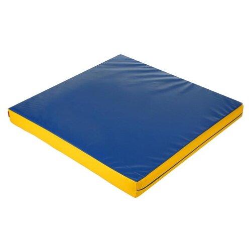 Спортивный мат 1000х1000х100 мм Onlitop 4250667 синий/желтый