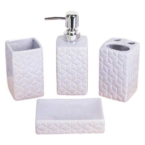 Фото - Набор для ванной Доляна Звезды, лиловый набор для ванной доляна грация 2698471 персиковый
