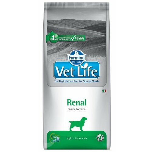 Фото - Сухой корм для собак Farmina Vet Life, при заболеваниях почек 2 кг консервы farmina vet life renal canine диета при заболеваниях почек для собак 300г