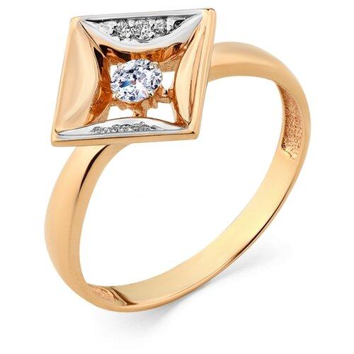 Мастер Бриллиант Золотое кольцо с бриллиантом 1-108332-00-00, размер 17.5
