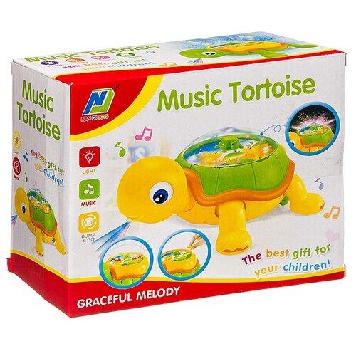 Купить Музыкальная игрушка Гратвест свет и движение, Черепаха, коробка, 19*16*9 см (Б93913), Развивающие игрушки