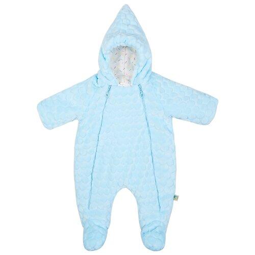 Купить Комбинезон Сонный Гномик размер 68, голубой, Теплые комбинезоны