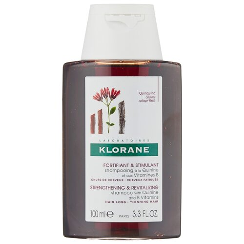 Klorane шампунь Strengthening & Revitalizing Shampoo with quinine and B vitamins 100 мл klorane шампунь oil control shampoo with nettle 200 мл