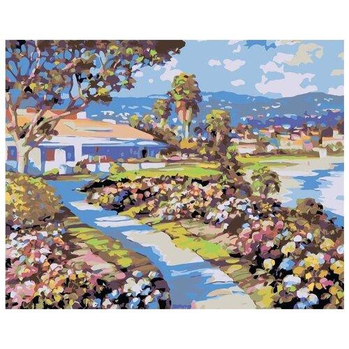 Купить Картина по номерам Живопись по Номерам Солнечный городок , 40x50 см, Живопись по номерам, Картины по номерам и контурам