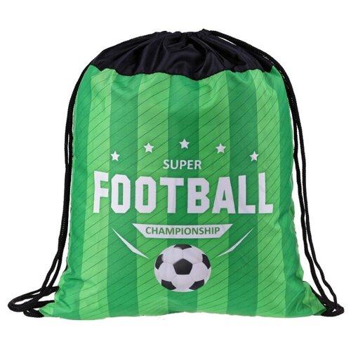 Купить ArtSpace Мешок для обуви Football (МДО_27777) черный/зеленый, Мешки для обуви и формы