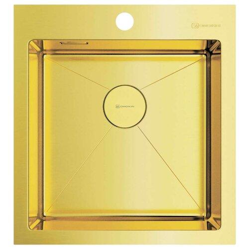 Фото - Врезная кухонная мойка 46 см OMOIKIRI Akisame 46 LG 4973081 светлое золото врезная кухонная мойка 46 см omoikiri akisame 46 lg 4973081 светлое золото