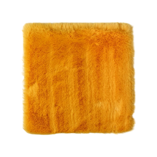 Мех искусственный Арт Узор для творчества 1200 г/м, 30х30 см горчичный