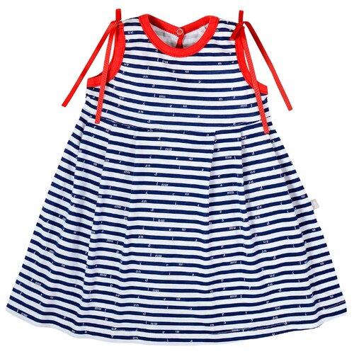 куртка для девочки мамуляндия сказочный сон цвет белый розовый 17 1905 размер 86 Платье Мамуляндия размер 86, синий/белый