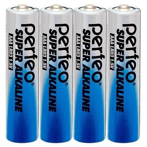 Батарейка AAA щелочная Perfeo LR03/4SH Super Alkaline 4 шт батарейка perfeo алкалиновая pf lr6 4sh