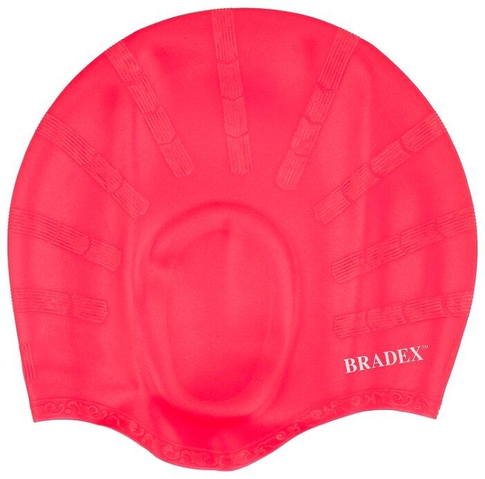 Шапочка для плавания BRADEX силиконовая с выемками для ушей синий