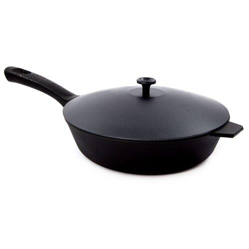 Сковорода Добрыня DO-3316 24 см с крышкой, черный