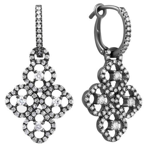 JV Золотые серьги с бриллиантами E06544-SR-BLK