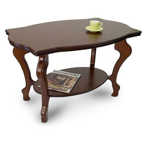 Фото - Столик журнальный Мебелик Берже 1, ДхШ: 94 х 60 см, темно-коричневый подставка мебелик берже 14 темно коричневый