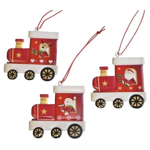 Набор елочных игрушек Breitner 22-5019, красный/белый, 3 шт. по цене 1 378