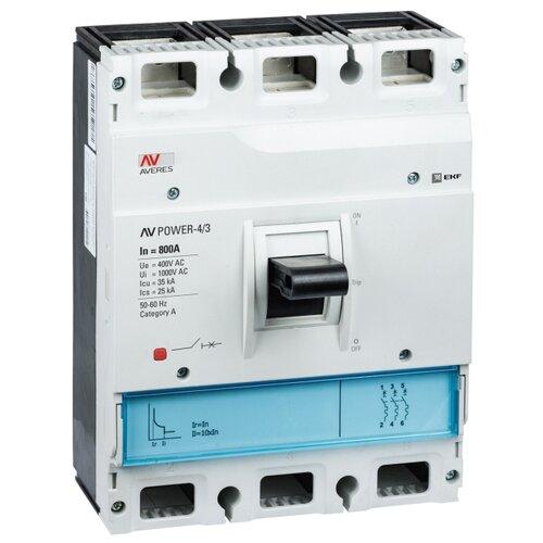 Автоматический выключатель EKF AV POWER-4/3 3P 35kA 800 А