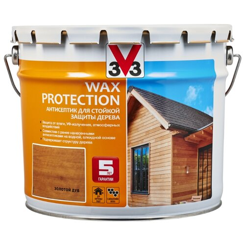 V33 Wax Protection золотой дуб 9 л